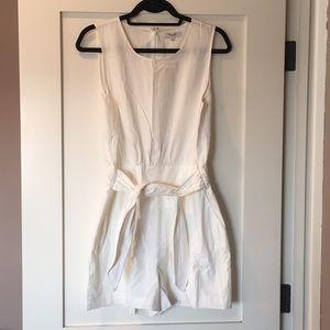 Madewell sash romper (white shorts)